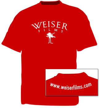 Weiser Films Fiddle T-Shirt - Cardinal Red, photo