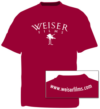 Weiser Films Fiddle T-Shirt - Maroon, photo