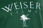Weiser Films Fiddle T-Shirt, Forest Green Red, photo